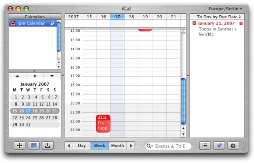 iCal from SyncML data