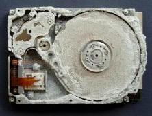 Crashed disk