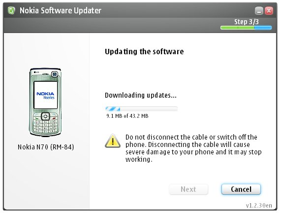 Nokia phone updater