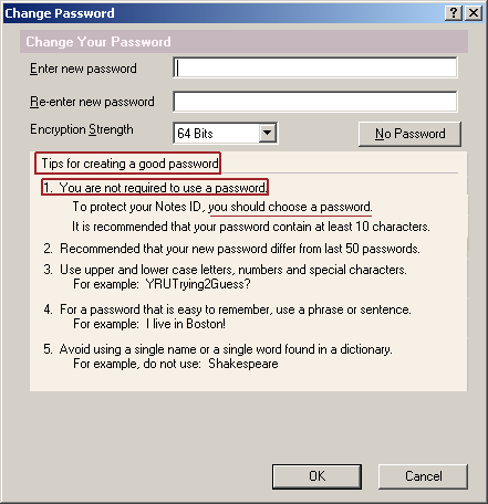 Password Change Dialog Notes 7.0.2