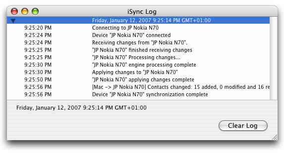 iSync log
