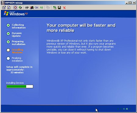 Windows XP in Xen