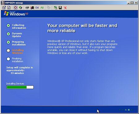 Windows XP in Xen