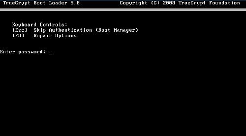 TrueCrypt preboot