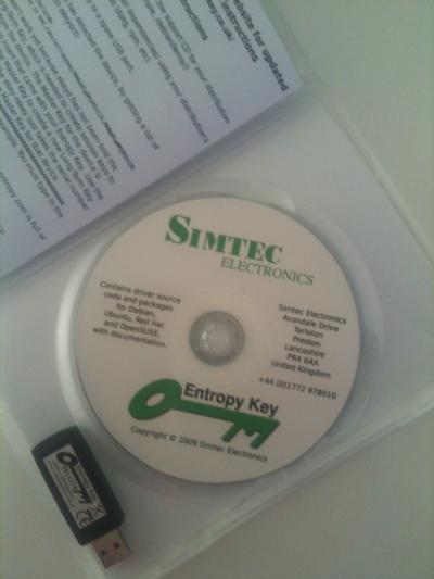 Entropy Key delivered