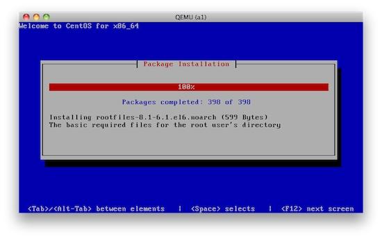 Centos install via KVM