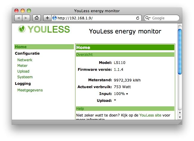 LS110 Web interface