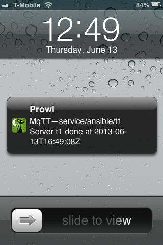 Prowl on iOS