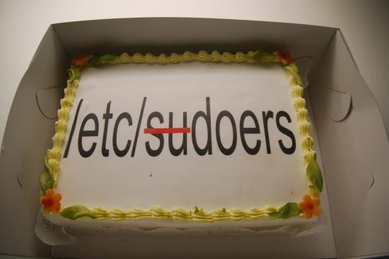 sudoers cake