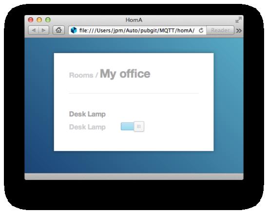 homA Web interface