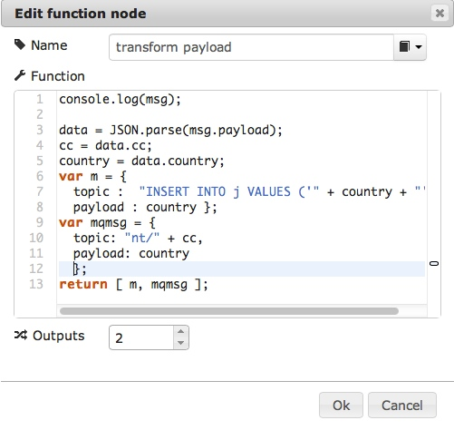 a function in the editor