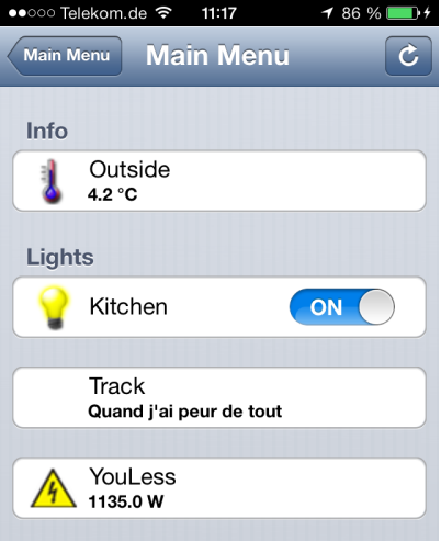 openHAB on iPhone
