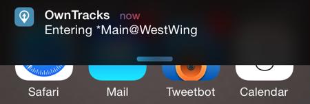 iBeacon notification on iPhone