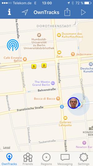 iBeacon on OwnTracks app