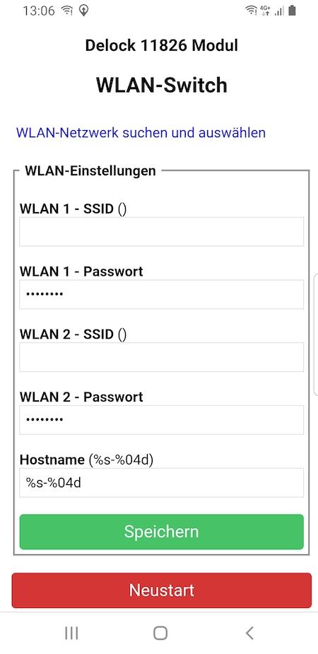initial Wifi configuration