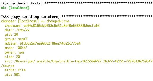 Debugging output with YAML