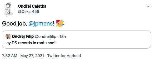 Ondřej tweets